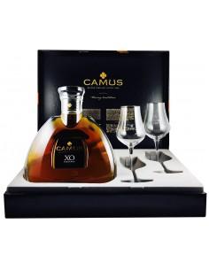 Cognac Camus X.O. con estuche y 2 copas 70 cl.