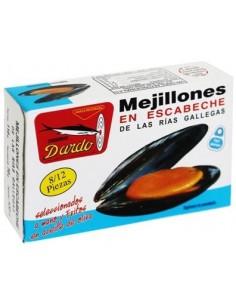 Mejillones en Escabeche y Fritos en Aceite de Oliva OL-120 8-12 Piezas