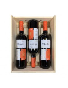 Pack 3 bottles of Rioja Bordón Crianza 2017 in Wooden Box 75 cl.